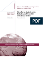 Air Pollution Statistical Analysis