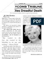 The Maycomb Tribune - Dubose Dies Dreadful Death