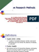 Scientific Research MPH