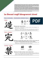 I comuni ideogrammi cinesi contengono messaggi dalla Genesi!