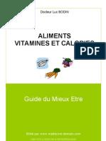 LIVRET - Aliments Vitamines Et Calories PDF