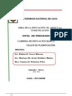 TALLER DE PLANIFICACIÓN