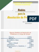 2 ) Modelos Para La Resolucion de Problemas