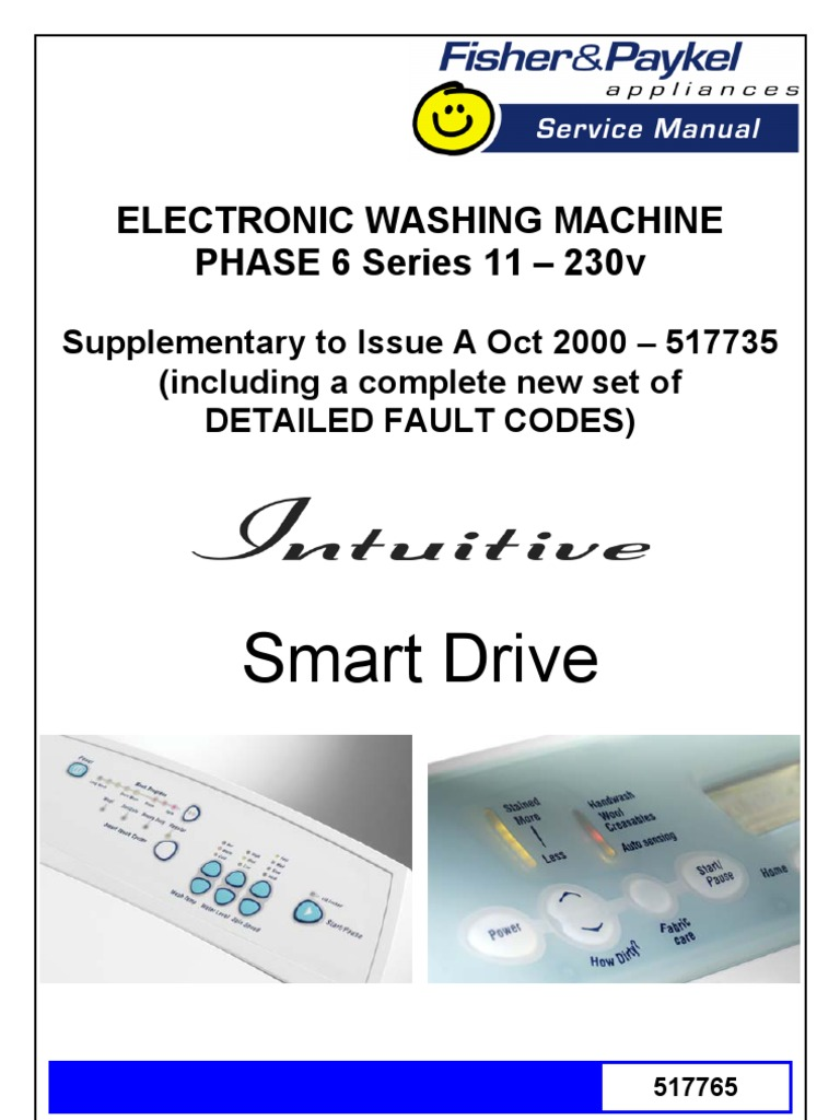 Fisher & Paykel Washer Fault Codes | Vacuum Tube | Pump on