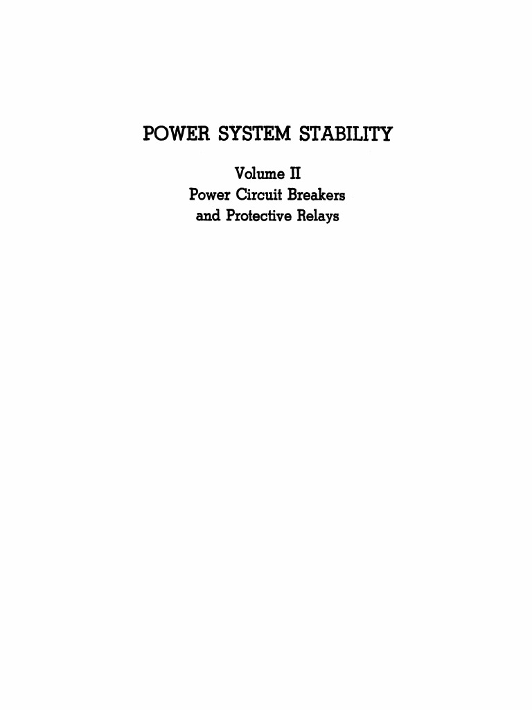 Power System Stability Vol Ii Kimbark Electric Arc Capacitor Simple Bustie Circuit For Rc Planes Youtube