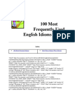 100 Most Frequently Used English Idioms
