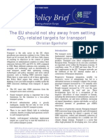 CE on CO2 Targets for Transport