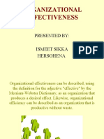 Organisational Effectiveness