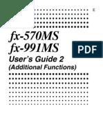 Casio 991 Ms User Manual