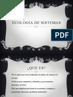 Ecología de sistemas