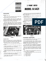 WheelHorse Three Point Hitch 8-5421 owners manual