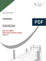 AQA CHM3X W SQP 07 (With Task Sheet)