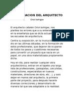 La Formacion Del Arquitecto