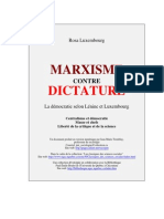 Marxisme Contre Dictature de Rosa Luxemburg
