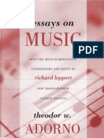 Adorno - Essays on Music - Cap. 3-Music and Mass Culture-On the Social Situation of Music (Pags 391-436)