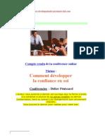Conférence - Comment développer la confiance en soi