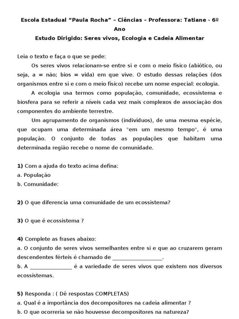 Super Seres Vivos e Cadeia Alimentar XN63
