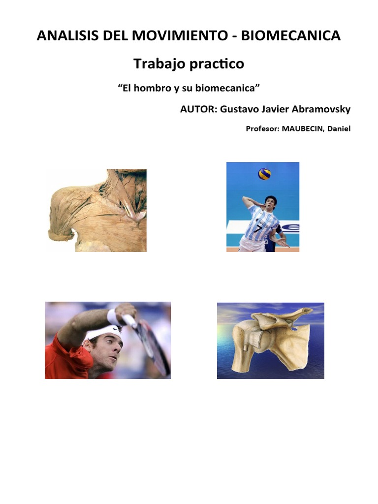 Tp Biomecanica Del Hombro Gustavo Javier Abramovsky
