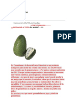Beneficios de La Guanabana o GRAVIOLA
