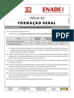 Enade 2007 - Prova FORMAÇÃO GERAL