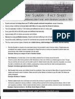 Slavery Fact Sheet