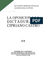 Tomo 2.A. Oposición a la Dictadura de Cipriano Castro
