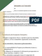El Presupuesto Participativo en Venezuela PLANIF. II-1