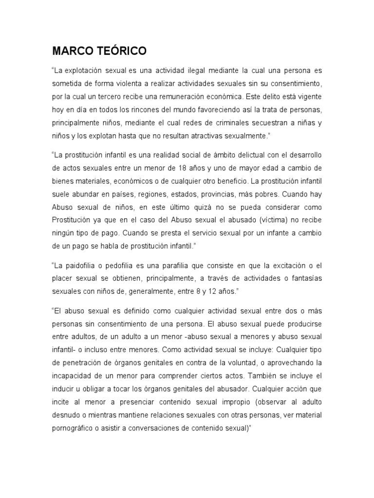 MARCO TEÓRICO EXPLOTACION SEXUAL INFANTIL
