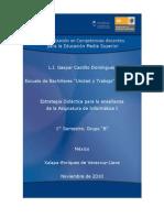 Estrategia didactica Informática I