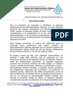 CÓDIGO DE ÉTICA PROFESIONAL DEL ADMINISTRADOR PÚBLICO 2010  PDF
