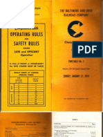 Chessie System Pennsy Division ETT NO 1 1-27-74