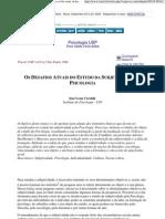 (Adoramos Ler) Jose Leon Crochik - Os Desafios Atuais Do Estudo Da Subjetividade Na Psicologia (A