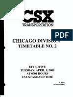 CSX Chicago Division ETT NO 2 4-1-2008