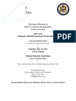 NEH Chairman Presentation Invite