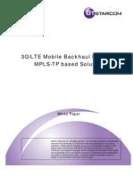 3glte Mobile Backhaul Network Mplstp Based Solution 3499