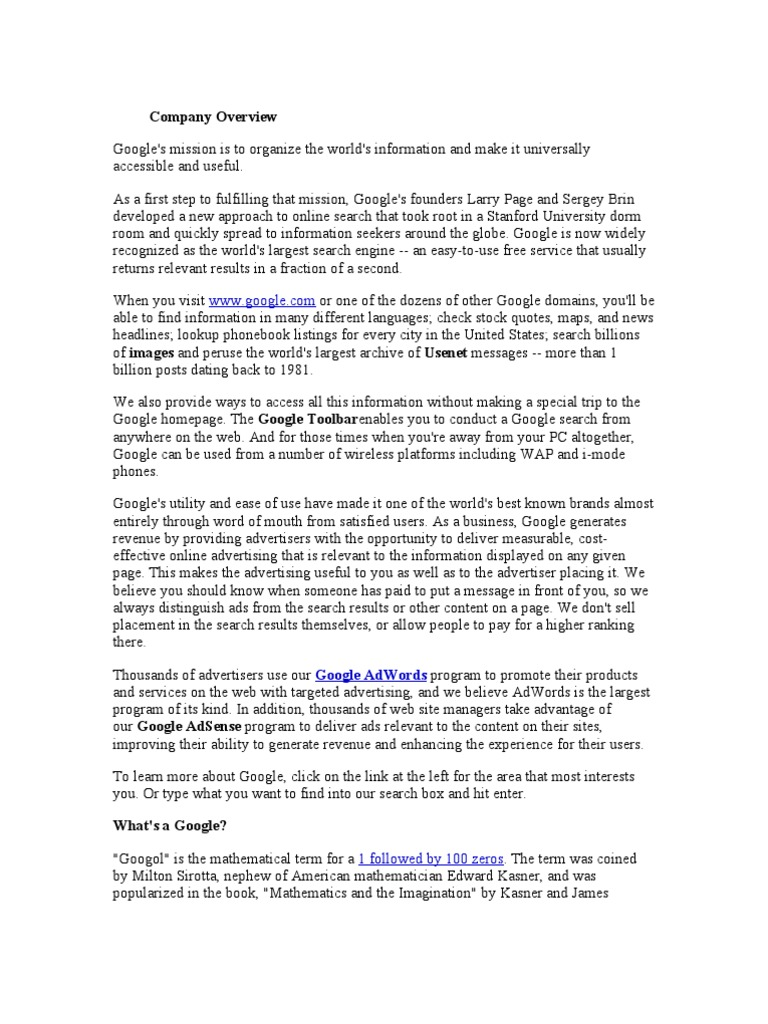 Google Stock Quotes Google Company Overview  Gmail  Google