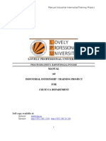 Manual Industry Internship Training