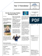 Parent Newsletter Sharing the Planet