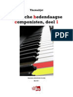 Themalijst Belgische Hedendaagse Componisten - deel 1