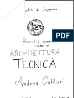 Domande Risposte ARCHITETTURA TECNICA Andrea Calliari