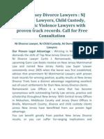 New Jersey Divorce Lawyers & Attorney, Child Custody Lawyer New Jersey