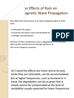 The Effects of Rain on Electromagnetic Wave Propagation