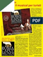 Recensione anteprima nazionale di Roma Caput Mundi eternal musical al Sistina