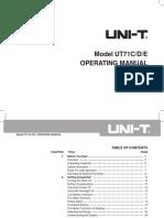 UT71CDE Eng Manual