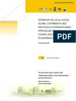 Proceedings of the Workshop on Local Action, Global Contribution