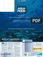 Natural ingredients for sustainable aquaculture