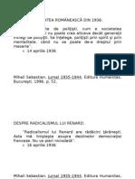 Jurnalul Lui Mihail Sebastian