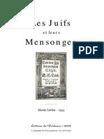 Martin Luther - Des Juifs Et de Leurs Mensonges