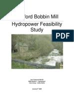 Ashford Bobbin Mill Hydro Feasability Study