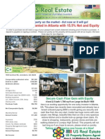 Renovated and Tenanted in Atlanta with 15.5% Net and Equity